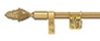Zoroufy Brushed Brass Stair Rod with Pinapple Finial