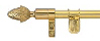 Zoroufy Polished Brass Stair Rod with Pinapple Finial
