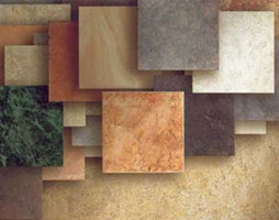 A variety of ceramic tile textures is available
